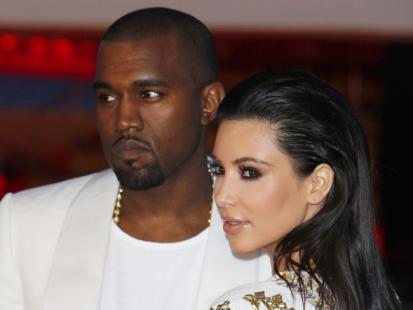 Kim Kardashian i Kayne West razem w Cannes