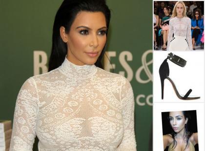 Kim Kardashian w fantastycznej stylizacji podpisuje swoją nową książkę
