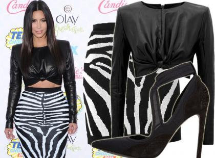 Kim Kardashian w stylizacji za 15 tysięcy złotych