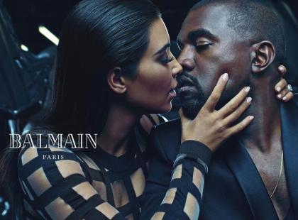 Kim z mężem w kontrowersyjnej kampanii Balmain
