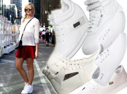 Klasyka sportowego stylu: białe trampki, sneakersy i high-topy