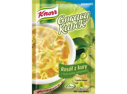Knorr Gorący Kubek Rosół z kury z nutą trawy cytrynowej