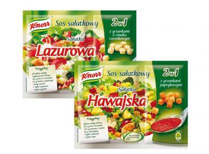 Knorr - Sałatka Lazurowa i Sałatka Hawajska
