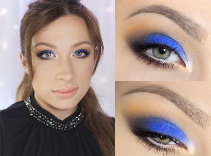 Kobaltowy makijaż krok po kroku według Katosu