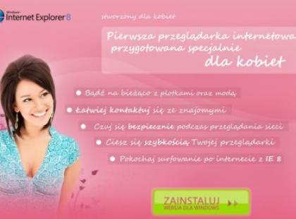 Kobieca przeglądarka Internet Explorer od Microsoft