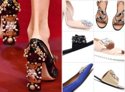 Kochamy to! 17 par butów z biżuteryjnymi aplikacjami