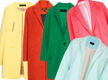 Kochamy to: kolorowe płaszczyki na początek wiosny
