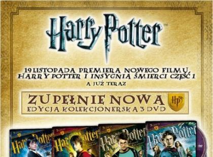 Kolekcjonerskie wydanie czterech części Harrego Pottera