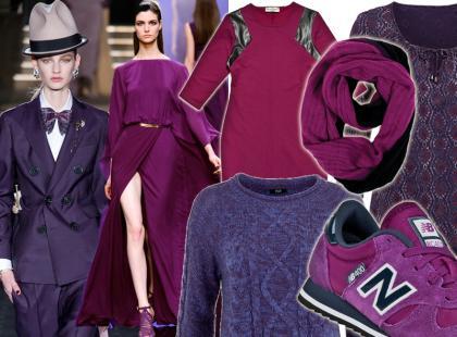 Kolor purpury, a raczej jego modne odcienie