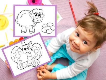 Kolorowanki dla dzieci: zwierzątka