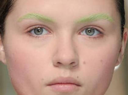 Kolorowe Brwi - trendy ekstremalne