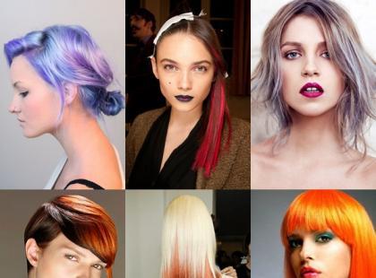Kolorowe fryzury karnawałowe