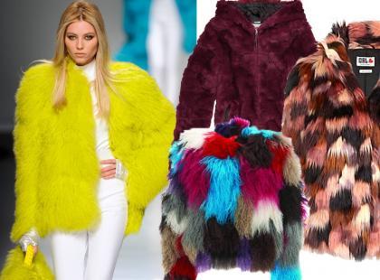 Kolorowe futra, czyli co musisz mieć w swojej szafie