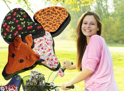 Kolorowe i wzorzyste pokrowce na siodełko do roweru