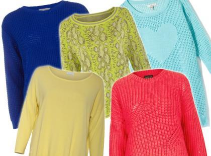 Kolorowe sweterki na koniec lata