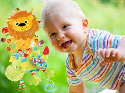 Kolorowe zabawki dla malucha