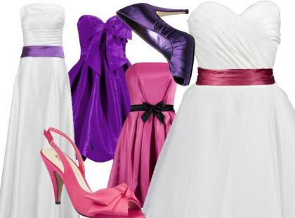 Kolorowe zestawy ślubne dla panny młodej i jej druhen
