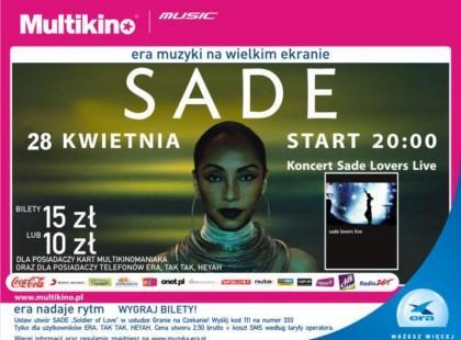 Koncert Sade na ekranie Multikina Arkady Wrocławskie