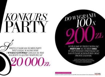 Konkurs Party! Wygraj 20 tysięcy złotych