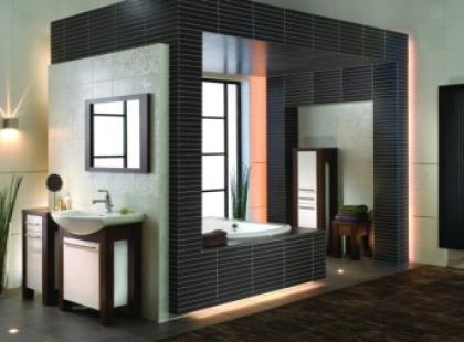 Kontrasty kolorystyczne w łazience