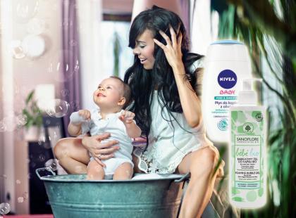 Kosmetyki do kąpieli z pianą dla malucha