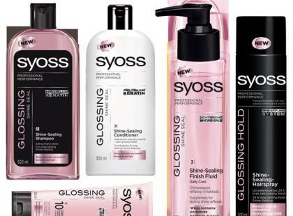 Kosmetyki do nabłyszczania włosów z linii Syoss Glossing