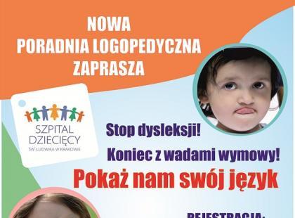 Kraków - nowa Poradnia Logopedyczna w Szpitalu Dziecięcym im św. Ludwika