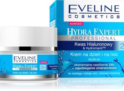 Krem na dzień i na noc Hydra Expert Professional 25 + - Eveline Cosmetics
