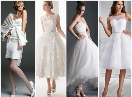 Krótkie suknie ślubne 2014 - nasze typy