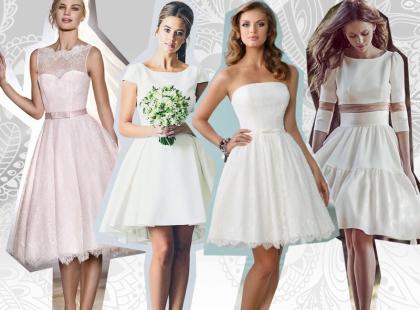 Krótkie suknie ślubne – zobacz najpiękniejsze modele