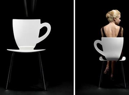 Krzesło jak filiżanka
