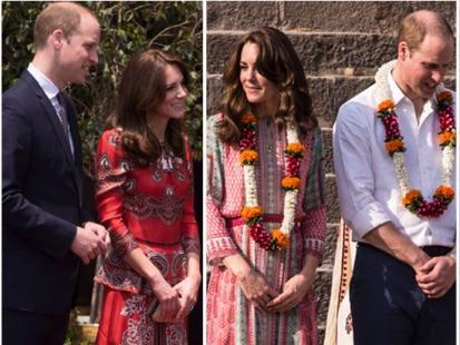 Książęca para odwiedziła Indie. Księżna Kate dawno nie wyglądała tak pięknie