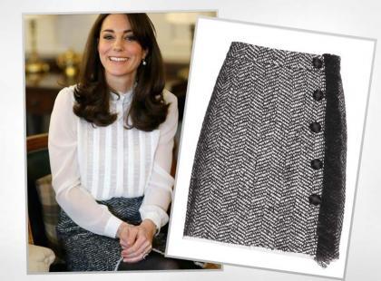 Księżna Kate nosi spódnicę z przeceny