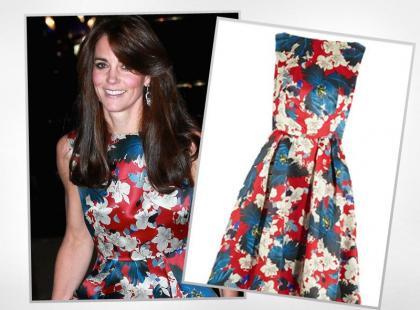 Księżna Kate w ultra drogiej sukni Erdem