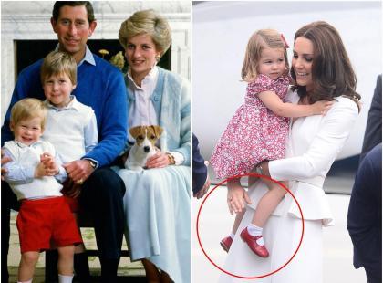 Księżniczka Charlotte podczas wizyty w Polsce miała na sobie buty z 1986 roku! Należały do księcia Harry'ego