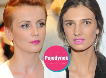 Kto wygląda lepiej w różowej pomadce