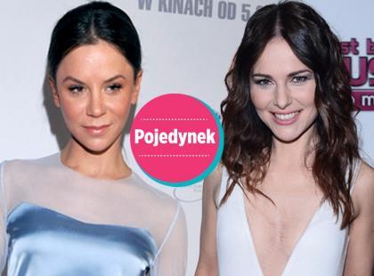 Która lepiej w błękitnej spódnicy marki Papillon?