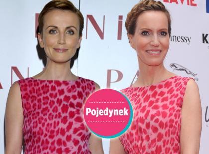 Która lepiej w różowej sukience maxi? [sonda]