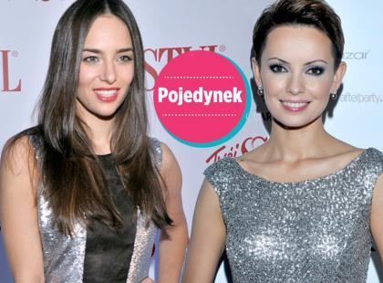 Która lepiej wygląda w srebrnej sukni?