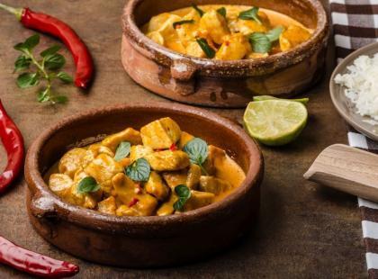 Kurczak curry z mlekiem kokosowym