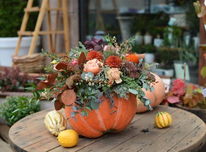 Kwiaty w dyni - nietuzinkowy pomysł na jesienną dekorację