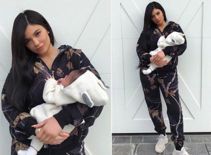 Kylie Jenner chwali się córką i pokazuje płaski, pociążowy brzuch!