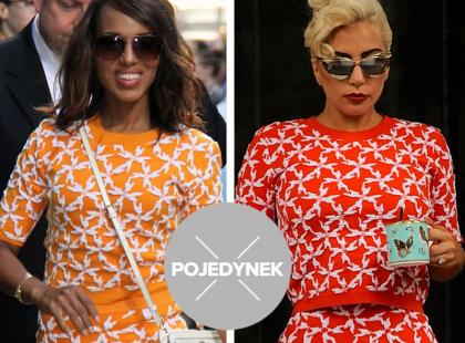 Lady Gaga vs. Kerry Washington. Która lepiej stylizuje ten sam komplet?