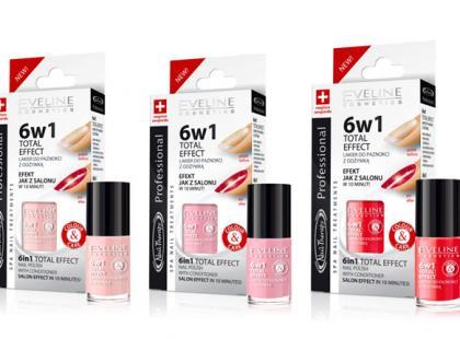 Lakier do paznokci z odżywką 6w1 - Eveline cosmetics