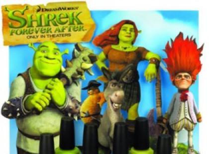 Lakiery do paznokci inspirowane Shrekiem