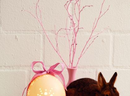 Lampa w kształcie wielkanocnego jaja - krok po kroku