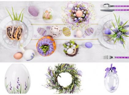 Lawendowy stół na Wielkanoc