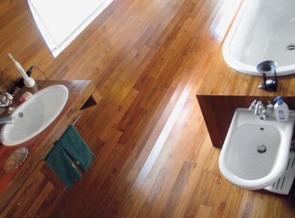 Łazienka w drewnie