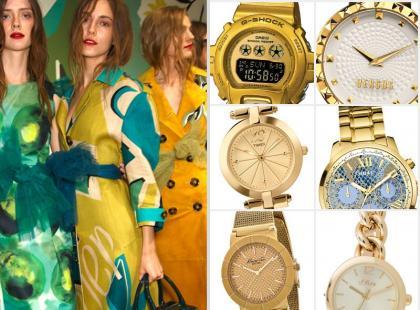 Letni hit, czyli złote zegarki z najnowszych kolekcji