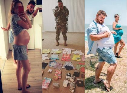 Lewy nie jest pierwszym, który pokazał, jakcieszy się z ojcostwa. Najlepsze zdjęcia dumnych przyszłych tatusiów z Instagrama